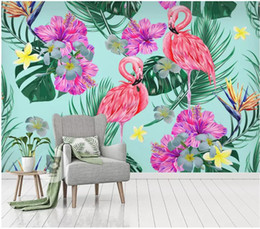 Photos house Plants online shopping - 3d wallpaper custom photo mural on the wall FFlamingo flowers plant rainforest backgrond wall Home decor living Room wallpaper for walls d