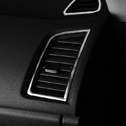Wholesale-Accessories 2PC FIT FOR 2015 2015 MITSUBISHI ASX OUTLANDER SPORT CHROME AIR VENT COVER TRIM GARNISH MOLDING SURROUND