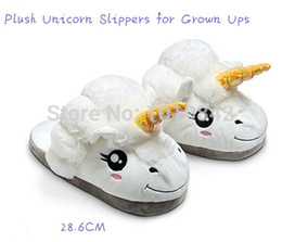 Wholesale-New Arrive Plush Cotton Unisex Despicable Me 2 Unicorn Slippers Chinelo Funny Soft Plush Pantufa Home Slipper Cosplay Shoes Doll