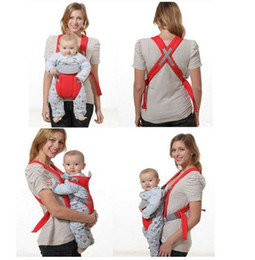 Wholesale-5pcs/lot Front & Back Baby Carrier Infant Backpack Sling Baby Sling 2-30 Months Red And Blue Color BB90409