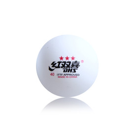Chinese  Wholesale-60 Pcs   Lot 3 Stars 40 mm DHS DOUBLE HAPPINESS Table Ttennis Ball Olympic Table Tennis White Balls 2.8G manufacturers