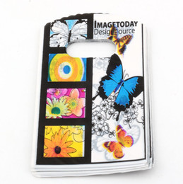 Discount plastic bags 9x15cm - Hot sell ! Jewelry Pouches .100pcs 9X15cm butterfly Plastic Bags Jewelry Gift Bag