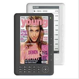 HD 7 inch Anti-glare colored E-book E-reader 720P video player MP3 MP4 Built in 4GB