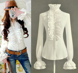 S/M/L/XL/XXL 2014 new!Charm OL Business wear Flouncing Top women shirt stand collar office ladies shirts 4 Colors