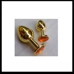 Rosebud plugs online shopping - 20pcs Small size GOLD color Stainless Steel Attractive Butt Plug Jewelry Rosebud Anal Jewelry