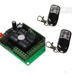 Four Button Universal Remote Control 2pcs and 4 Channels wireless module 1pcs Kit H345