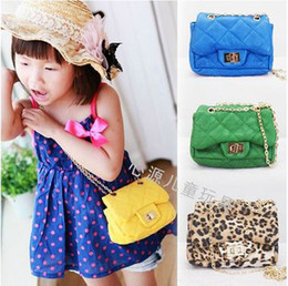 New fashion Children high quality PU lattice Messenger bag shoulder bag handbag 9 colour 22pcs/lot