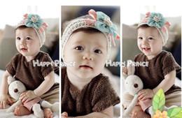 crochet flowers headband 2019 - Baby Girl Flower Hair bows Hairband Hair Band Hair clips Satin Crochet Headbands Hair Accessories discount crochet flowe