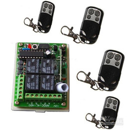 315MHz/433MHz Metal Learning Code Wireless Remote Control 4pcs+ 4 Channels Wireless Receiver+1pcs Garage Door Kit