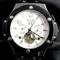 Wholesale bangs for sale - jaragar luxury men stainless big bang tourbillion automatic mechanical watch dive white mens watches