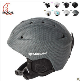 Moon SKI HELMET HAT Winter adult men and women single board double plate special snowboarding prote