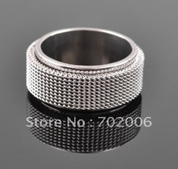 1 pcs Fashion Stainless Steel men's Ring Size 17mm-21mm