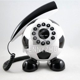 Individuality Creative Football Home Table Cord Telephone For House 7 Color