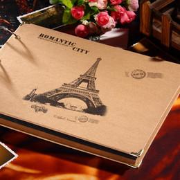 Eiffel Tower Style Photo Albums DIY Adhesive-Type Albums Kraft Photo Albums