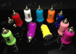 Colorful Bullet Mini USB Car Charger Universal Adapter for iphone 5 6 6S plus S5 S6 EGO CHARGER
