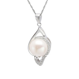 free shipping new design fast selling 925 Silver Freshwater Pearl charming gift high quality Pendant jewelry manufacturer in China-PS02479