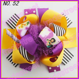 free shipping fashion 20pcs 5-6''boutique funky fun hair bows popular hair bows clips zebra character clips