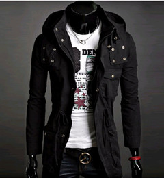 high-quality black Men's Hoodie men's Jacket SWEATER Men's coat Cotton Hooded Coat Korean Trend in long jacket men coat