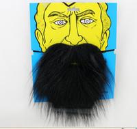 Wholesale fake beard sets online - Halloween Party set Fake Black White Eyebrow Mustache Beard Self Adhesive Facial Hair Costume ball Make Up