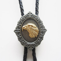 Wholesale New Vintage American Pride Eagle Head Western Bolo Tie Leather Necklace BOLOTIE WT001 Brand New In Stock