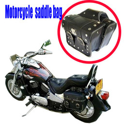 2 x universal Motorcycle Saddlebags Saddle Bags ( left + right )Pouch for Harley New free shipping