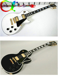 New Custom Electric Guitar White and black Electric guitar Ebony fingerboard wholesale guitars from china