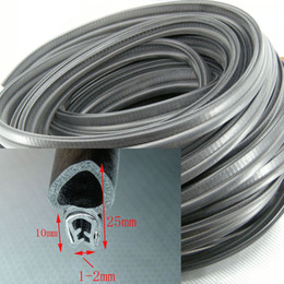 3 meters Car door Rubber Trim Edge Seal Dust-proof noise-proof clamp 1-2mm E