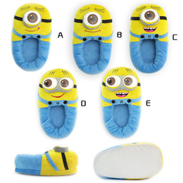Despicable Me Precious Milk Dad little yellow people 3D eyes winter home warm slippers with plush package minons yellow people