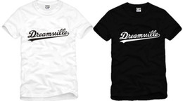 Free shipping high quality cotton tee new sale DREAMVILLE J COLE LOGO printed t shirt hip hop tee shirts 100% cotton 6 color