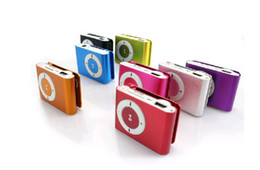 8 colors Mini Clip MP3 player with earphones+usb cables+retail box support Micro SD TF card(1-32GB) Sport Mp3 Metal mp3