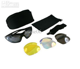 Daisy C4 IPSC UV400 Eye Protection sunglasses Riding Ski goggles Glasses 4 Lens Outdoor Sports Bag