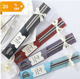 50PCS Good price Stainless-Steel Chopsticks Best Gifts for wedding favors gifts / business / birthday, Home Tableware Free Shipping