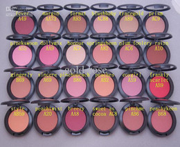 New HOT Powder Shimmer Blush 24 color No mirrors no brus 6G +GIFT
