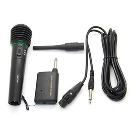 S5Q 2in1 Wired Wireless Handheld Microphone Mic Receiver System Undirectional AAADEG