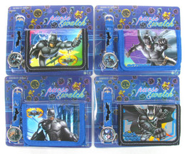 new 10pcs Batman Cartoon Child Quartz Wrist Watch/Clock with One Purse/Wallet/Pocket for Boys, Kids, Children Birthday Gift 10 pcs alo