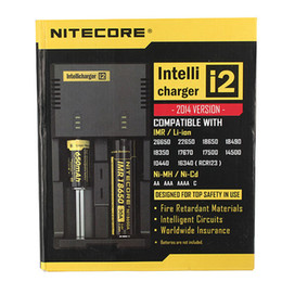 Genuine Nitecore I2 Universal Charger for 16340 18650 14500 26650 Battery E Cigarette 2 in 1 Muliti Function Intellicharger Security Code