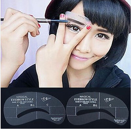 free shipping!!! Eyebrow Stencil Tool Makeup Styles Eye Brow Template Shaper Make Up Tool 6sets(24pcs)/lot [JC05006*6]