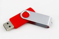 Wholesale print plastics online - Free EMS DHL Swivel USB Flash Drive GB Swivel USB USB OEM Logo Printing USB Sticks Day Dispatch Plastic Swivel USB