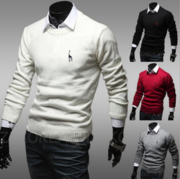 Hot sell sweaters mens sweaters pullover men knitting print sweater fashion cotton man sweater 4 color Free Shipping