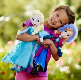 Kids gift for Christmas day 2015 New Arrival frozen Elsa Anna toys 50cm 20inch children stuff toys girls plush toys baby girl dolls