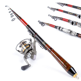 Telescopic Carbon Fiber Carp Fishing Rod Travel Spinning Lure Sea Rod Raft Pole Tackle Tool 1.2/1.4/1.8/2.1M H11592 H11593 H11594 H11595