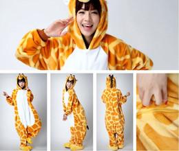 Giraffe Kigurumi Pajamas Animal Suits Cosplay Halloween Costume Adult Garment Cartoon Jumpsuits Unisex Animal Sleepwear