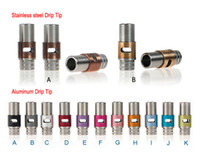 Fashion Style Stainless Steel Adjustable Airflow Drip Tips A...