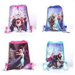 frozen princess sided printing beam port woven drawstring pouch bag toys finishing 34 X 27CM A022