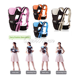 2014 New arrival,Multifunctional 4colors Breathable Ergonomic Baby Carrier Kid Pouch Front Back Infant Backpack baby suspenders -BDD