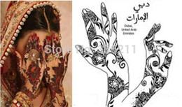 temporary henna tattoo kits 2019 - Wholesale-2015 new Popular lots of patterns Temporary Tatto Stencil Template Henna tattoo hands feet Painting Kit sexy g