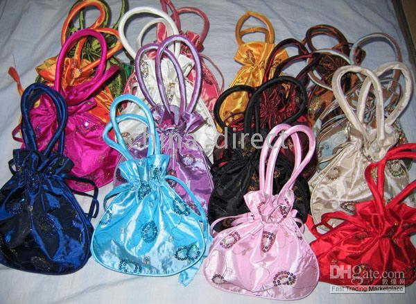 Chinese traditional Totes bag,Gift bags purse coin bag,present bag 50pc/lots lots design color