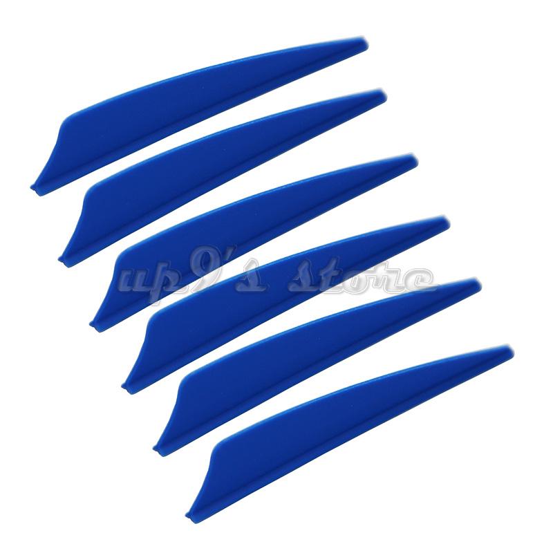 100 pcs 3 pouces Bouclier En Plastique Bleu Flèche Flèche archet à palettes pour la chasse