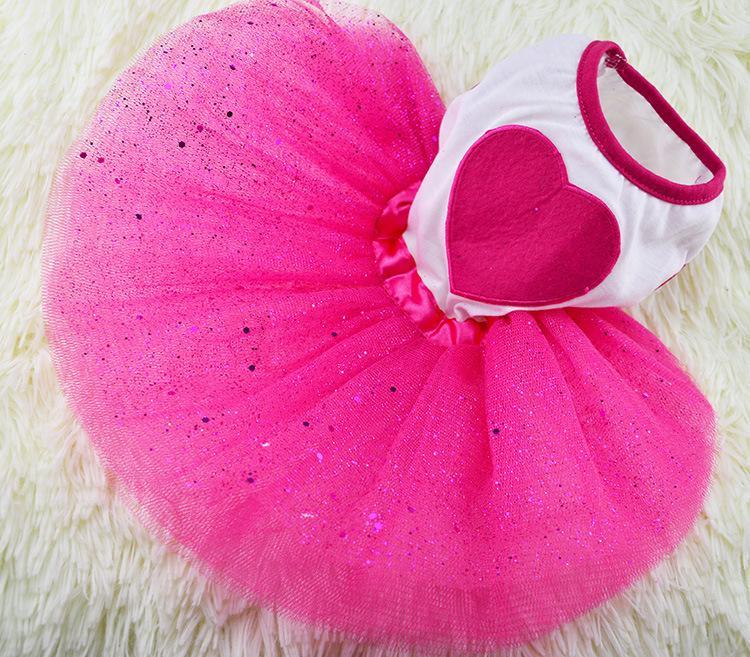 Compre 6 Tamaños Hot Love Dog Tutu Vestido Puppy Wedding Party Lace ...