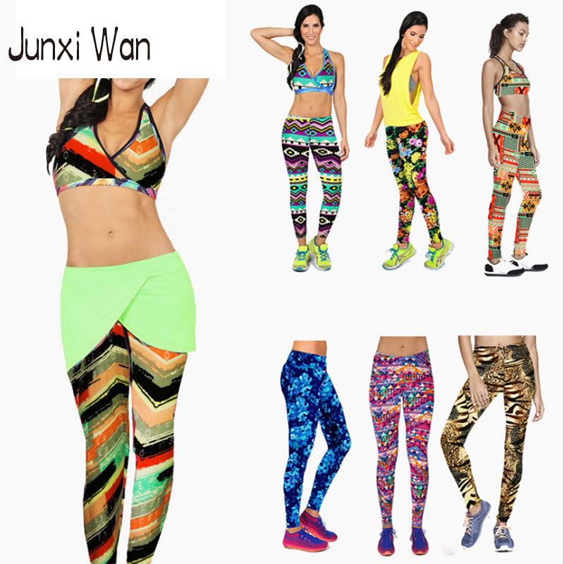 Wholesale Pants 12 Stretch - 12 Colors Women High Waist Fitness Sports Yoga Pants Floral Printed Elastic Stretch Running Gym Leggings WA0055